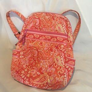 """Vera Bradley Pink & Orange Paisley Backpack 11x14"""""""